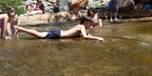 Ty Dillman at Slide Rock State Park in Sedona, AZ